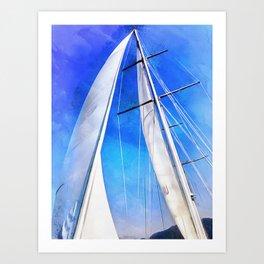 Sailing Unties The Knots Of My Mind Art Print