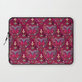 Persian Floral pattern  with painted texture and gold Laptop Sleeve