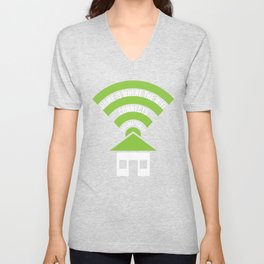 Home Is Where The Wifi Connects Automatically Unisex V-Neck