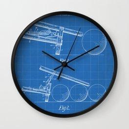 Pool Bridge Patent - Pool Art - Blueprint Wall Clock