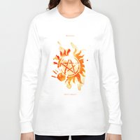 supernatural Long Sleeve T-shirts featuring Supernatural by Rose's Creation