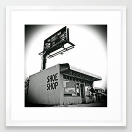 Shoe shop Framed Art Print