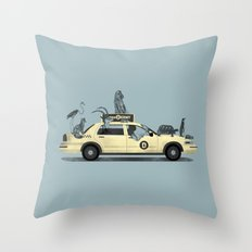 1-800-TAXI-DERMY Throw Pillow