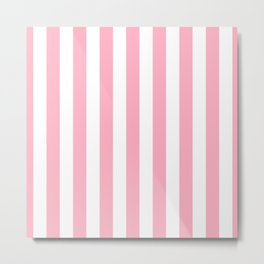 Palm Beach Pink Vertical Tent Stripes Florida Colors of the Sunshine State Metal Print