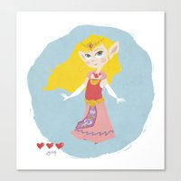 zelda Canvas Prints featuring Zelda by Amanda Chronister