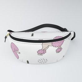 Cool colorful toy poodle puppy dog Fanny Pack