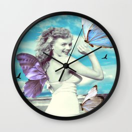 butterfly symphony (Marilyn) Wall Clock