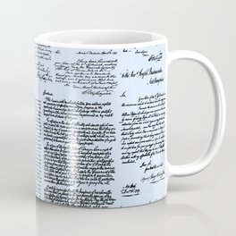 George Washington's Letters // Blue Coffee Mug