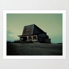 abandoned ski lift  Art Print