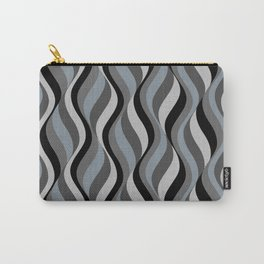 Waves grey white black pattern Carry-All Pouch