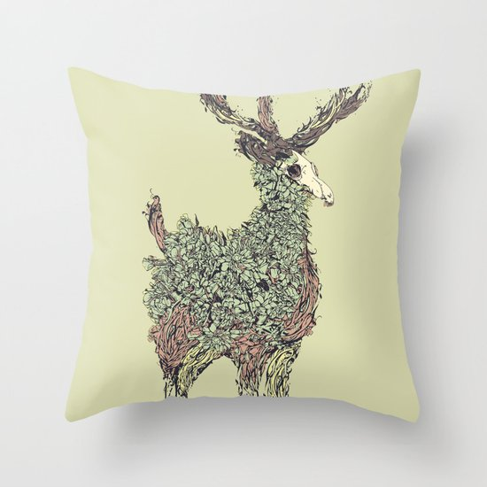 Beautiful Deer Old Throw Pillow