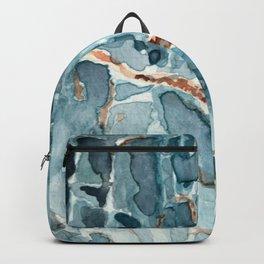 Blue Apatite Crystal Watercolor Backpack