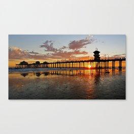 Sunset HB Pier / South Side   ( 9/7/13 ) Canvas Print