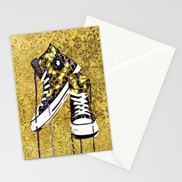 Animal Print Tennis Shoes Take a Walk On The Wild Side Stationery Cards