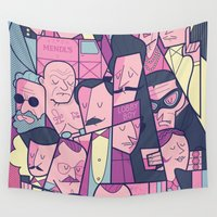 budapest Wall Tapestries featuring Grand Hotel by Ale Giorgini