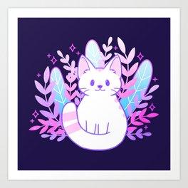 Plant Cat Art Print