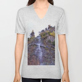 Tiny Waterfall Unisex V-Neck