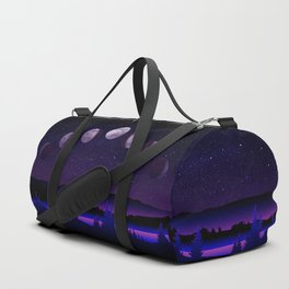Moon Phases Starry Night Duffle Bag