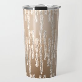 Eye of the Magpie tribal style pattern - gold Travel Mug