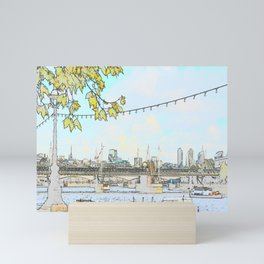 London River Scene Mini Art Print
