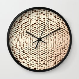 Pattern of brushed copper cylinders Wall Clock