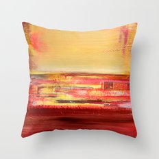 Untitled - Mixed Media Art Throw Pillow