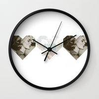 jessica lange Wall Clocks featuring Jessica Lange Heart by NameGame
