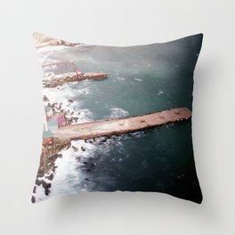 Cold Dark Sea Throw Pillow