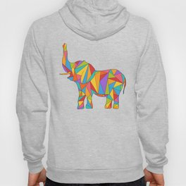 Big, bright, and colorful elephant - polychromatic animal Hoody