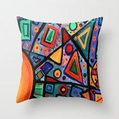 Abstract Sun Throw Pillow