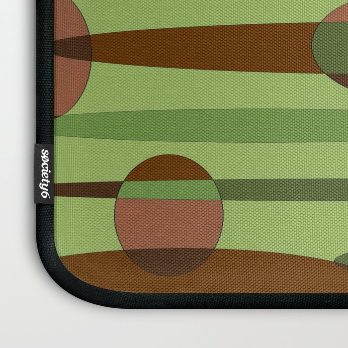 Trendy Green and Brown Camouflage Spheres Laptop Sleeve