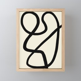Modern Minimal Abstract #4 Framed Mini Art Print