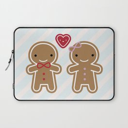 Cookie Cute Gingerbread Couple Laptop Sleeve