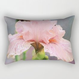 Lovely Pink Iris Rectangular Pillow