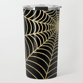 Spiderweb | Gold Glitter Travel Mug