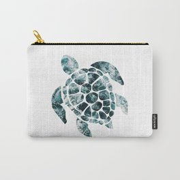 Sea Turtle - Turquoise Ocean Waves Carry-All Pouch