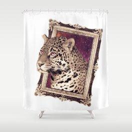 Space Jaguar Shower Curtain