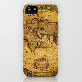 VintaGe Map iPhone Case