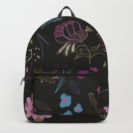 Abstract Spring Flowers Pattern Backpack