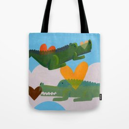 alligator love forever loop Tote Bag