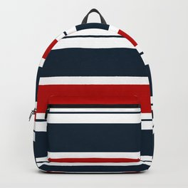 Red, White, and Blue Horizontal Striped Backpack