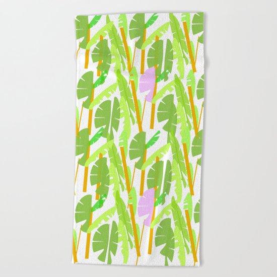 Tropical Plantation Beach Towel