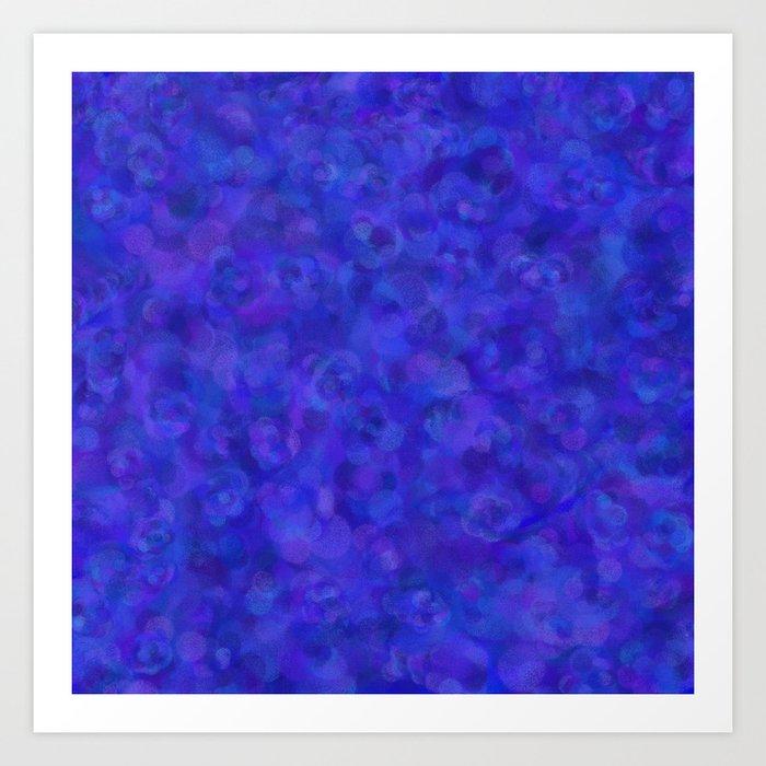 Royal Blue Abstract Art