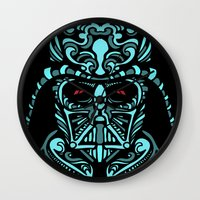 darth Wall Clocks featuring Darth James Darth by Quakerninja
