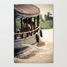 Water & boat Canvas Print