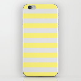 Yellow & Gray Stripes iPhone Skin
