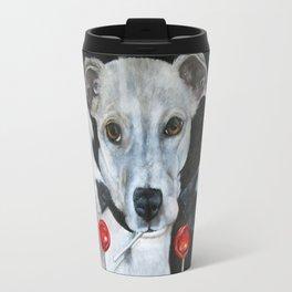 White Dogs and Tootsie Pops Travel Mug