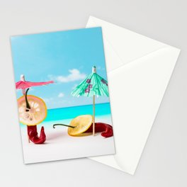 The Red, the Hot, the Chili on the beach Stationery Cards