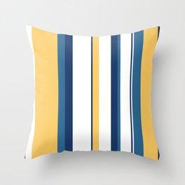 Vintage 1950s stripes Throw Pillow