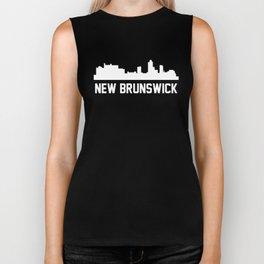 New Brunswick New Jersey Skyline Cityscape Biker Tank